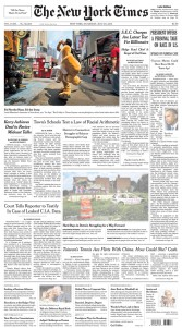 JoshuaBright_NewYorkTimes_Tearsheet_FrontPage_A1_TimesSquare
